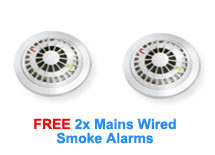 Free 2x Mains Wired Smoke Alarms